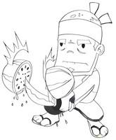 Desenho para colorir Fruit Ninja