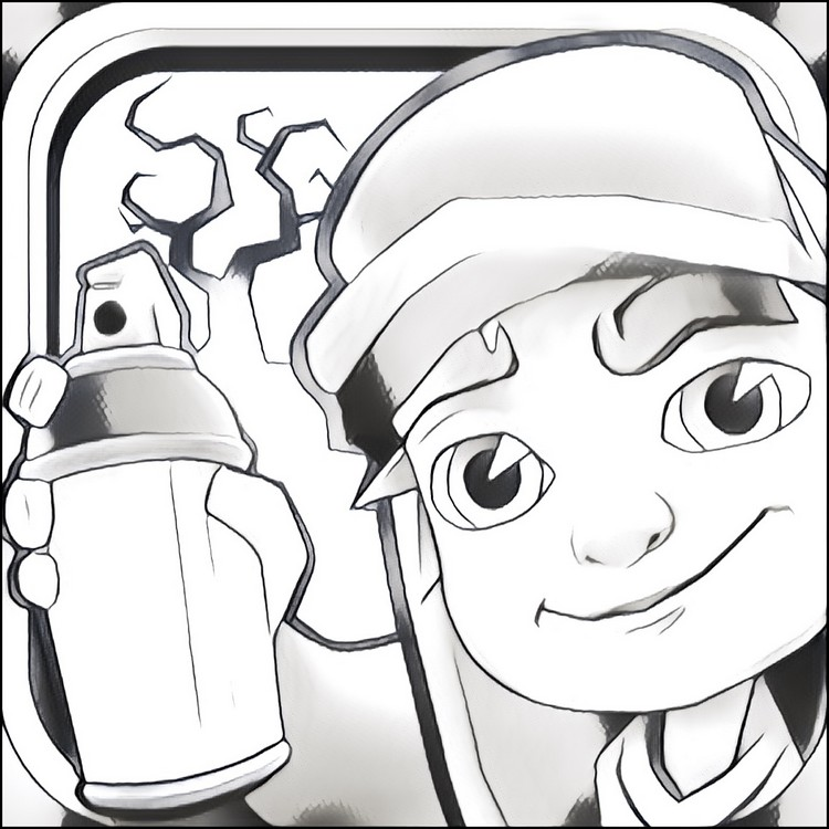 Coloring Pages Subway Surfers Drawing