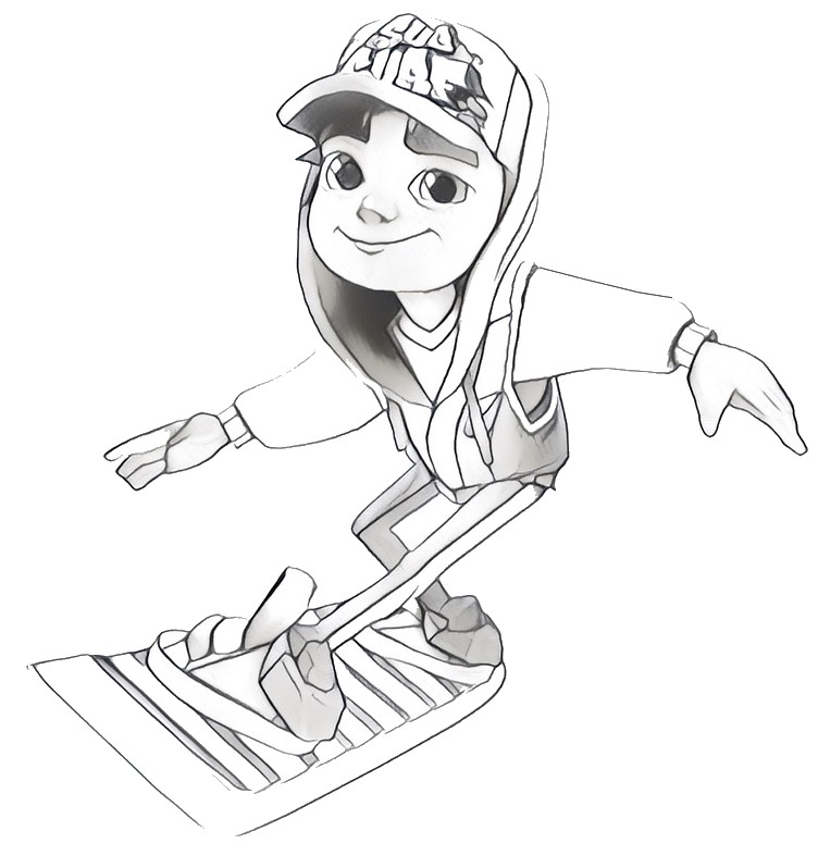 subway surfer coloring pages - photo#13
