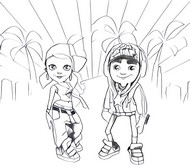 Coloring page Subway Surfers