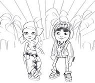 Desenho para colorir Subway Surfers