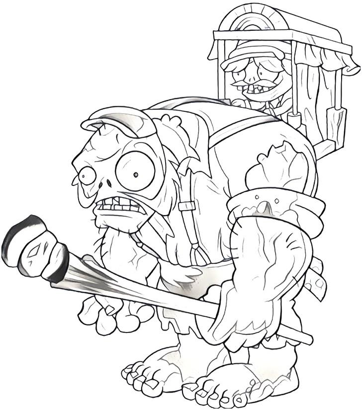 dibujo para colorear plants vs zombies 2