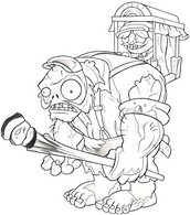 Coloring Pages Plants vs Zombies Drawing