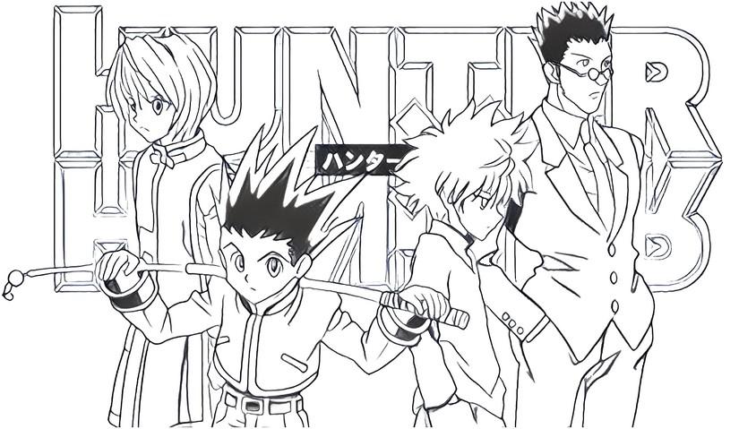 Dibujo Para Colorear Hunter X Hunter 1