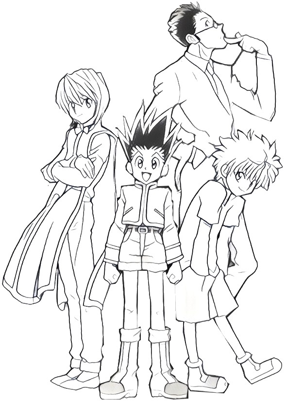 Hunter x hunter coloring pages coloring pages for Hunter coloring pages