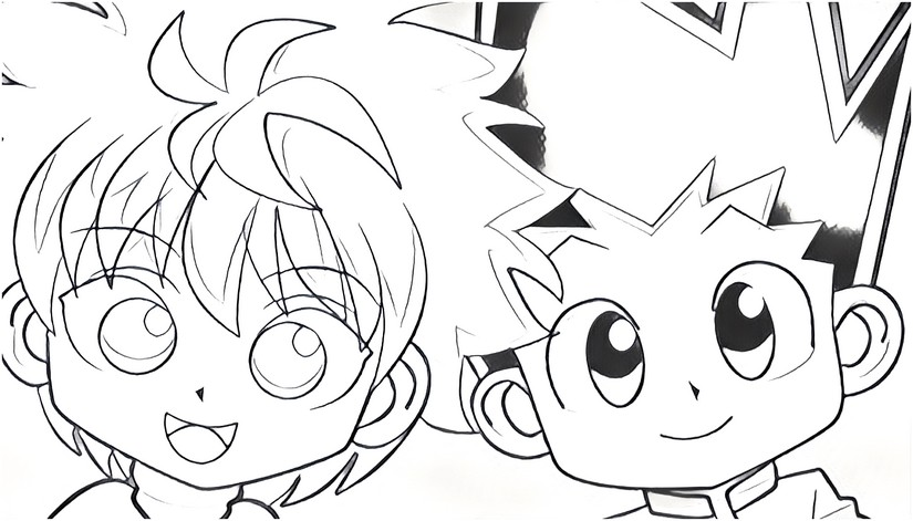 Hunter x hunter coloring pages for Hunter coloring pages