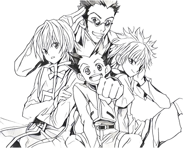 Coloring Page Hunter X Hunter 7