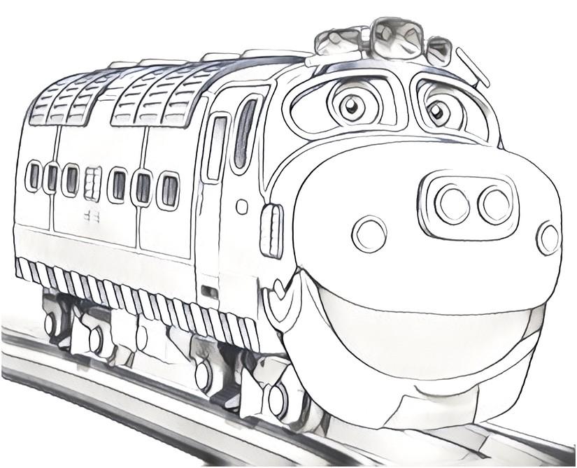 Dibujo para colorear Chuggington : Brewster 1