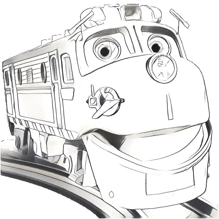 Coloring page Chuggington : Wilson 2