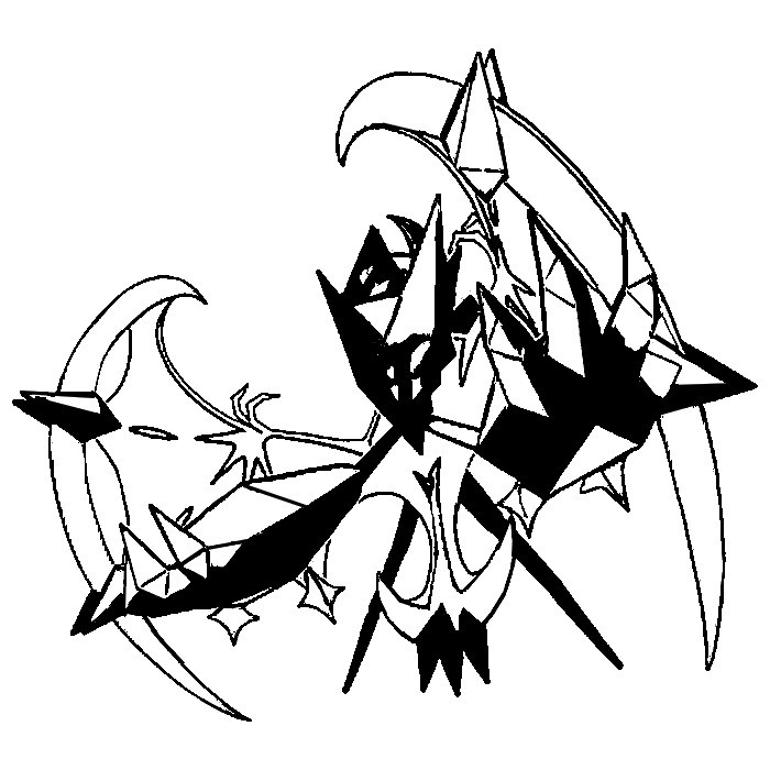 Coloring page Pokemon Ultra Sun and Ultra Moon Necrozma