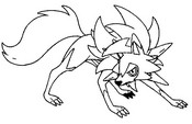 Coloring page Lycanroc Dusk Form