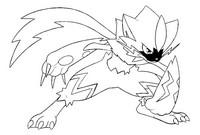 Desenho para colorir Zeraora