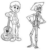 Desenho para colorir Miguel & Hector