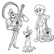 Desenho para colorir Dante Ernesto Hector