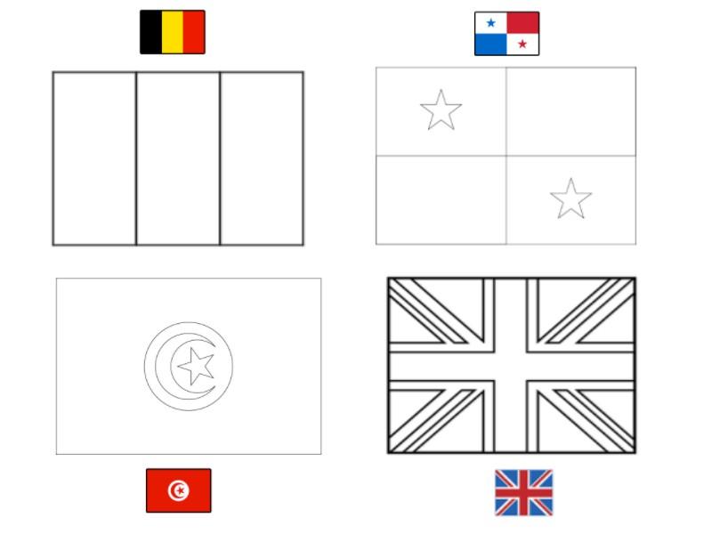 Dibujo Para Colorear Copa Mundial De Fútbol 2018 Grupo G
