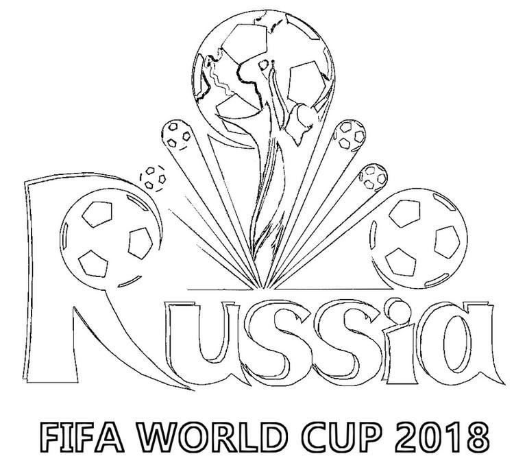 Disegno Da Colorare Coppa Del Mondo Fifa 2018 Campionato Mondiale