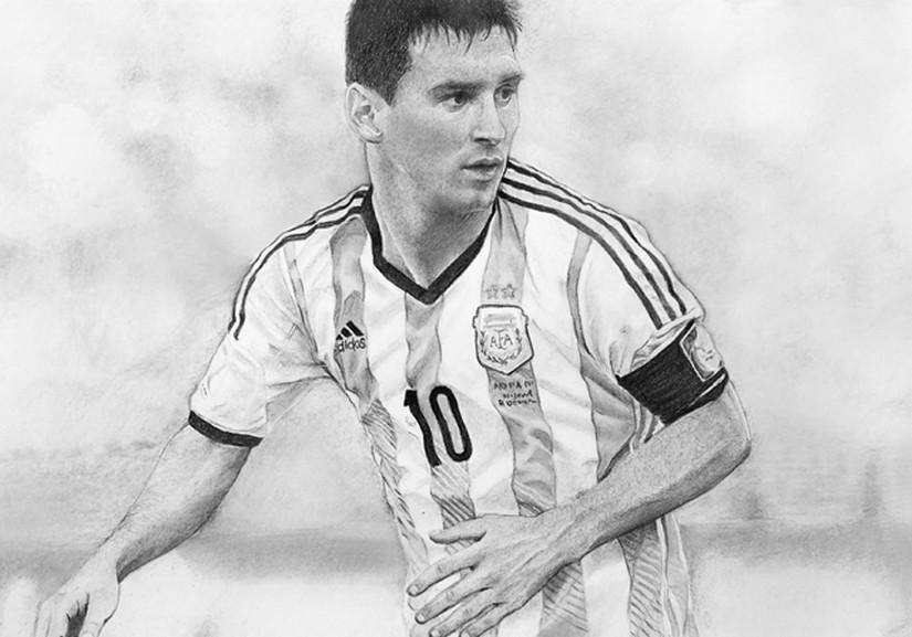 Dibujo Para Colorear Copa Mundial De Fútbol 2018 Messi Argentina 2