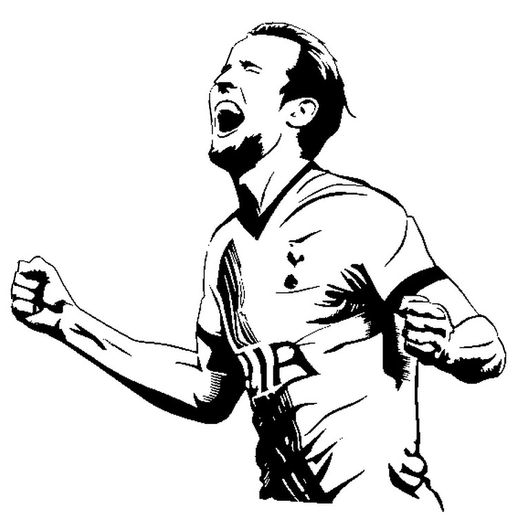 Disegno Da Colorare Coppa Del Mondo Fifa 2018 Harry Kane 22