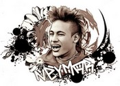 Coloring page Neymar - Brazil