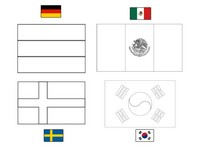 Coloring page Group F: Germany - Mexico - Sweden - South Korea