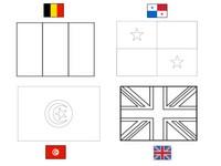 Målarbok Grupp G: Belgien - Panama - Tunisien - England