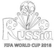 Coloring page FIFA World Cup 2018