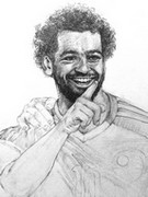Coloring page Mohamed Salah