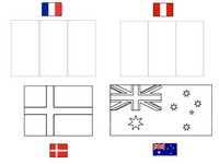 Coloring page Group C: France - Australia - Peru - Denmark