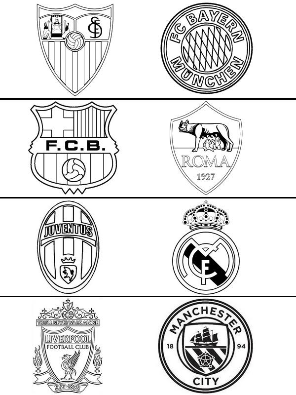 Coloring Page Uefa Champions League 2018 Quarter Finals 10