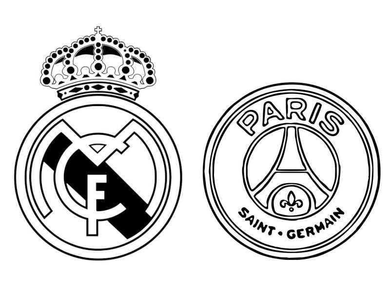 Dibujos Para Colorear Escudo Real Madrid: Dibujo Para Colorear Liga De Campeones 2018 : Real Madrid