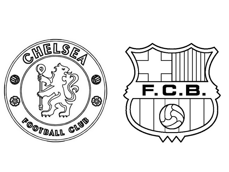 barcelona coloring pages to color | Fc Barcelona Logo Coloring Pages Sketch Coloring Page