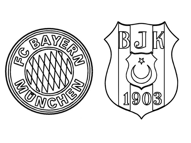 kleurplaat logo bayern munchen