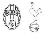 Disegno da colorare Juventus Football Club- Tottenham Hotspur FC