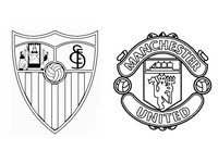 Coloring page Sevilla FC v Manchester United FC