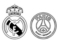 Dibujo para colorear Real Madrid CF - Paris Saint-Germain