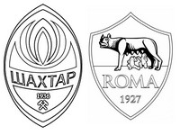 Coloring page FC Shakhtar Donetsk v AS Roma