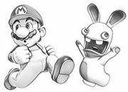 Målarbok Raving Rabbids och Super Mario