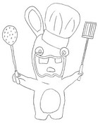 coloring page raving rabbid cooks