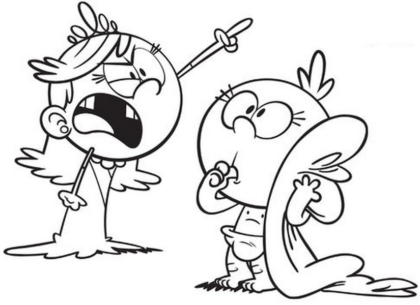 Loud House Printable Coloring Pages Lisa