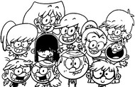 Coloring page Loud family