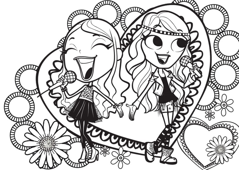 Disegno da colorare maggie e bianca fashion friends 3 for Disegni da colorare maggie e bianca