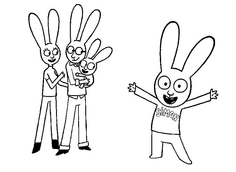 Desenho Para Colorir Simon Coelhinho Simon E Sua Familia 1