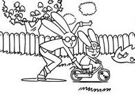 Kolorowanka Simon uczy się jeździć na rowerze