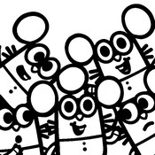 Coloring page Twitchlets, Mia's five little brothers