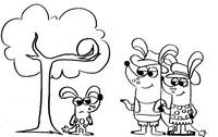 Coloring page Boj, Pops, Mimi