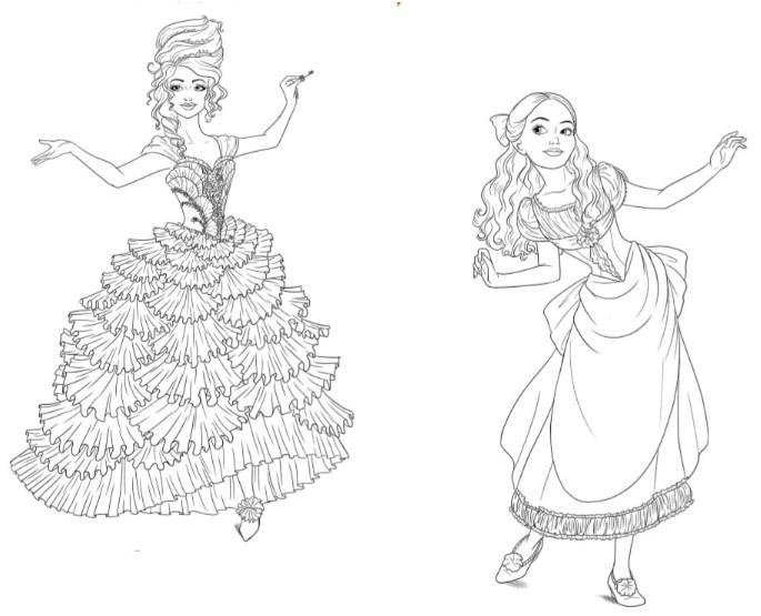 Dibujo Para Colorear Cascanueces Y Los Cuatro Reinos Hada