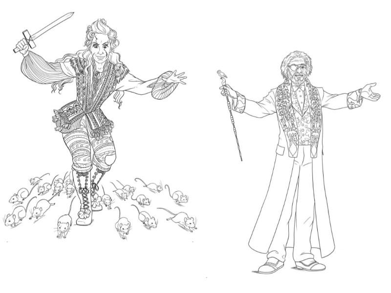 Desenho Para Colorir O Quebra Nozes E Os Quatro Reinos Mae