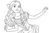 Dibujo para colorear Clara