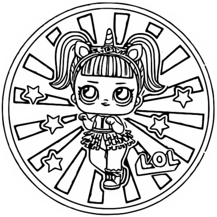 Desenho Para Colorir Lol Surprise Bonecas Unicornio 14