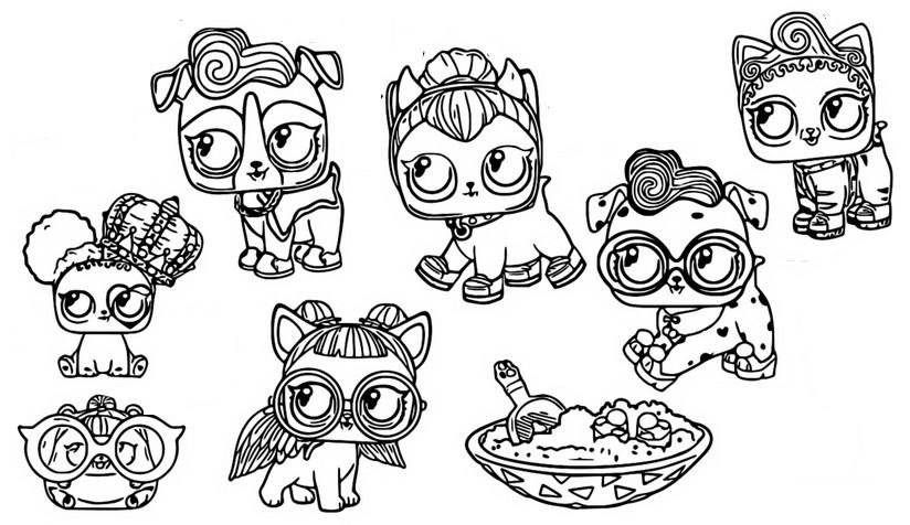 Dibujo Para Colorear Lol Surprise Munecas Fuzzy Pets 15